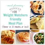 20 Minutes or Less Weight Watchers Friendly Meal Plan #30