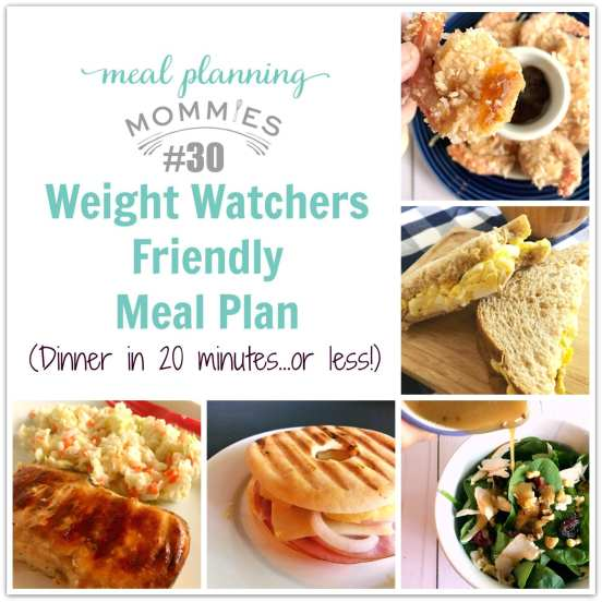quick and easy meal plan