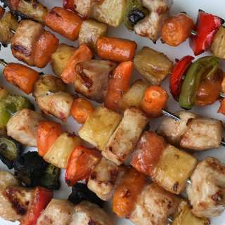Sweet and Sour Pork & Pineapple Kabobs