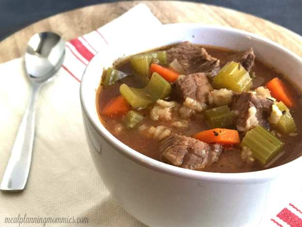 Slow Cooker Beef and Barley Soup - Just 5 WW SP per serving