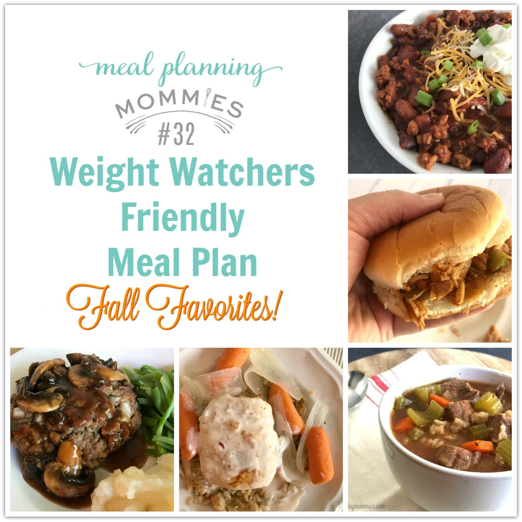 Weight Watcher Friendly Meal Plans with Smart Points Archives ...