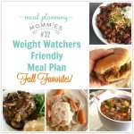 Fall Favorites Weight Watchers Friendly Meal Plan #32