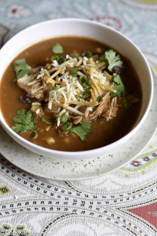 Weight Watchers friendly Instnat Pot Chicken Enchilada Soup