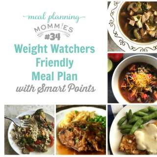 Weight Watchers Friendly Meal Plan #34 with FreeStyle Smart Points