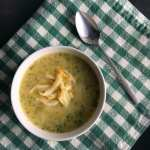 Skinny Three Cheese Broccoli Soup