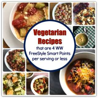 Vegetarian Recipes that are 4 Weight Watchers FreeStyle Smart Points or Less