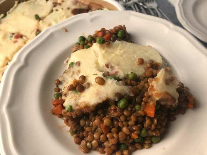 serve one cup delicious lentil shepherds pie