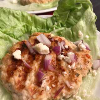 Italian Turkey Feta Burger Lettuce Wraps