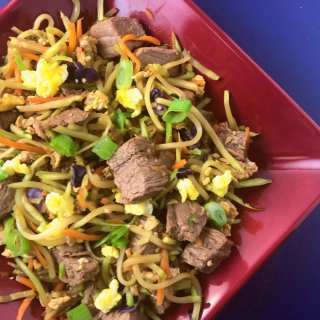 Steak and Shredded Vegetable Stir Fry