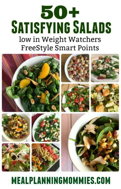 Over 50 Weight Watchers salads with FreeStyle SmartPoints