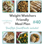 Weight Watchers Friendly Meal Plan w/ FreeStyle Smart Points #40