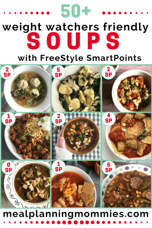 Over 50 Weight Watchers friendly soups with WW FreeStyle SmartPoints