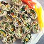 Rainbow Ranch and Veggie Pinwheels