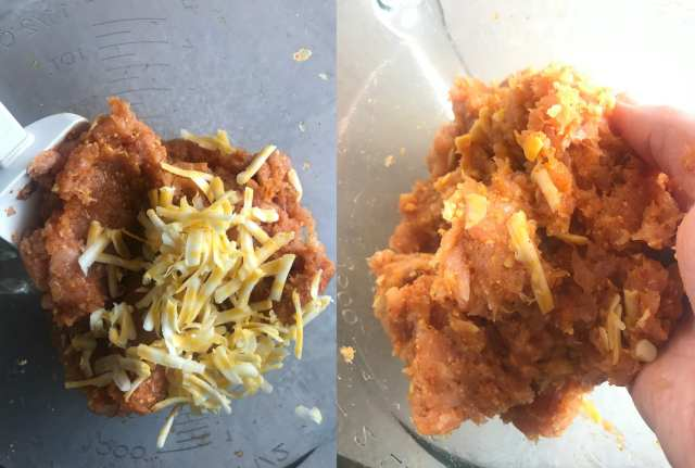 Fold cheese into the taco turkey mixture to make delicious Catalina Taco Turkey Lettuce Wraps/Burgers.