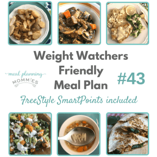 Weight Watchers Friendly Meal Plan with FreeStyle Smart Points #43