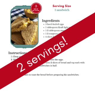 2 Serving Egg Salad Sandwiches
