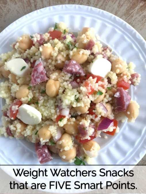 Weight Watchers snack recipes that are five WW FreeStyle Smart Points per serving.