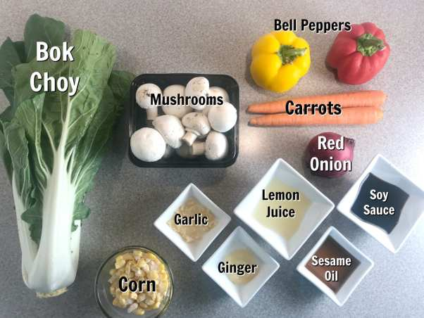 Ingredients to make Lemon Sesame Asian Stir Fry - Just 1 WW FreeStyle SmartPoint per (one cup) serving!