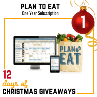 Plan to Eat Online Meal Planning System Giveaway 2018