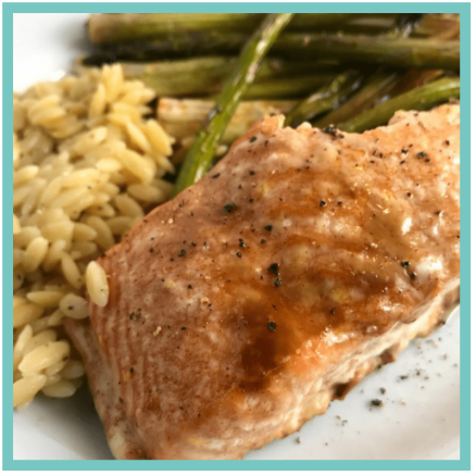 Garlic Brown Sugar Salmon and Asparagus - Easy Recipes that are perfect for when you are tired, stressed, and overwhelmed