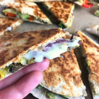 Roasted Vegetable & Provolone Quesadillas
