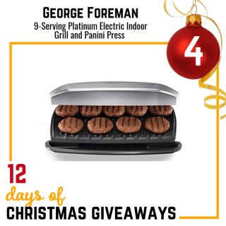 George Foreman 9-Serving Grill and Panini Press Giveaway