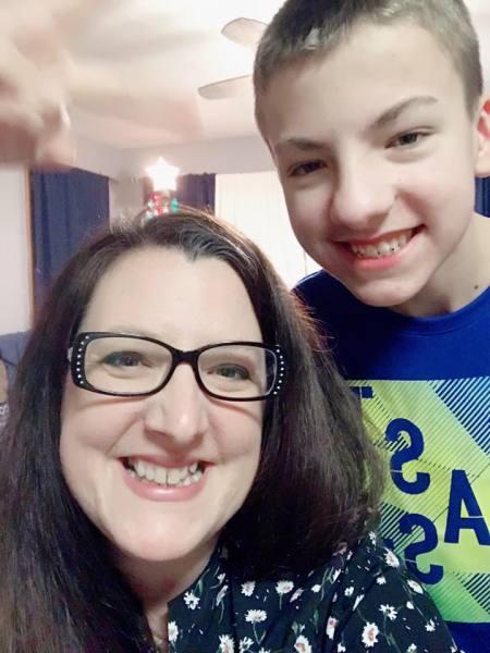 Alisha Hughes and her son, Preston Hughes