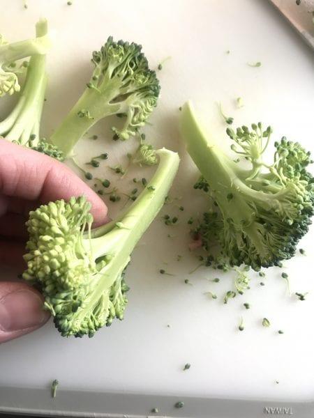 sliced broccoli