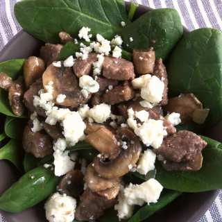 Steak Mushroom and Blue Cheese Salad