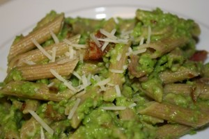 Pea Pesto with Bacon