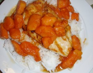 Papaya chicken and rice
