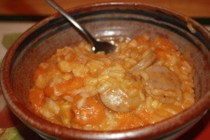 Butternut squash and sausage risotto
