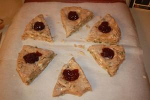 Mint scones before baking