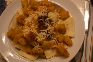 Ravioli with butternut squash