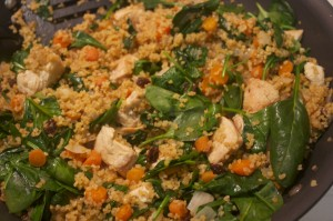 Chicken Bulgur Skillet with Spinach