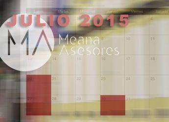 Obligaciones fiscales para el mes de Julio