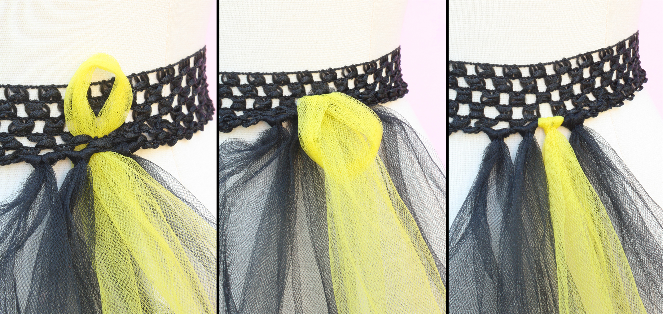 e358caabdc516 Bumble Bee Costume - How to make a Bumble Bee Tulle skirt -  www.MeandAnnabelLee