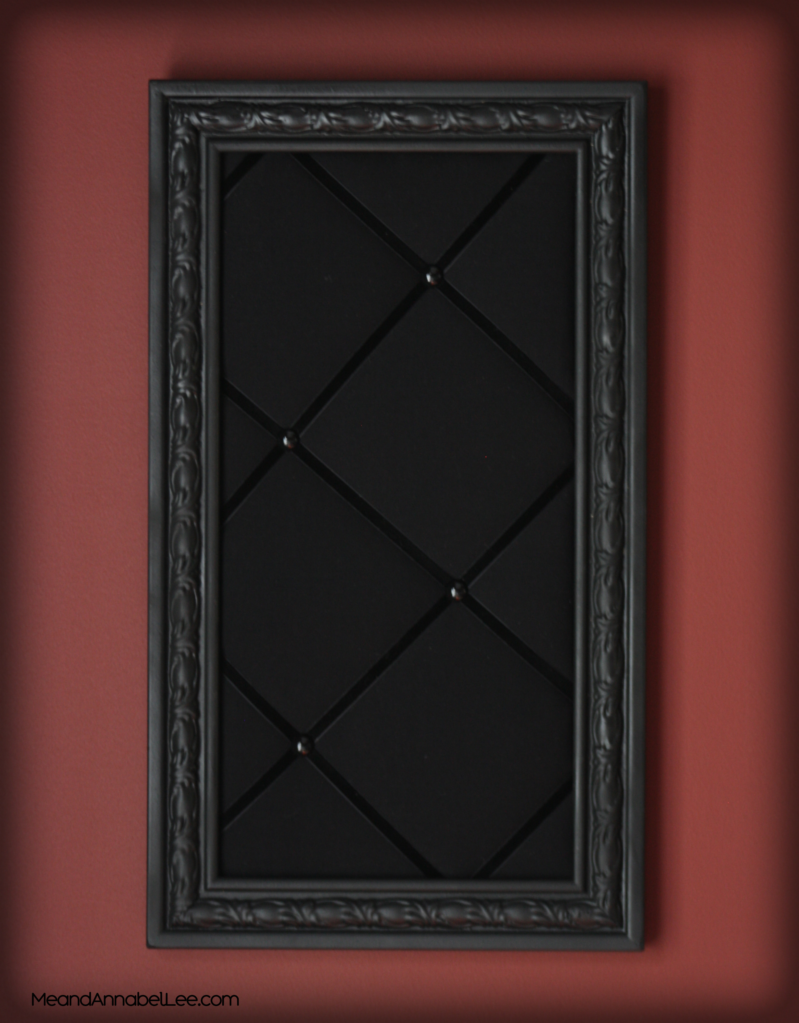 Diy Upholstered Gothic Memo Board Black Victorian Pin Board Goth Home Decor Me And Annabel Lee Gothic Blog