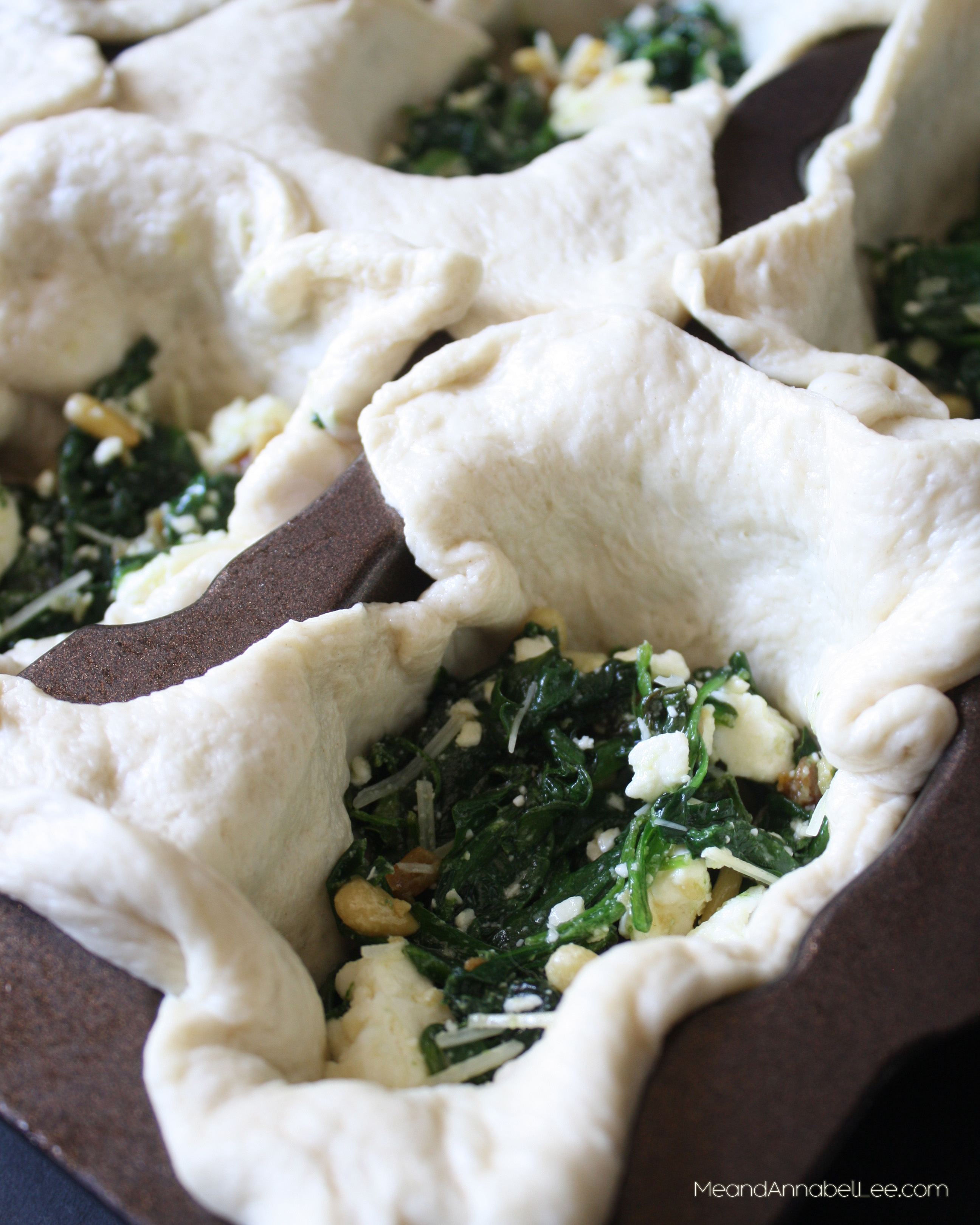 Spinach And Pine Nut Rolls: Spinach Feta Skull Appetizers - Halloween Treats