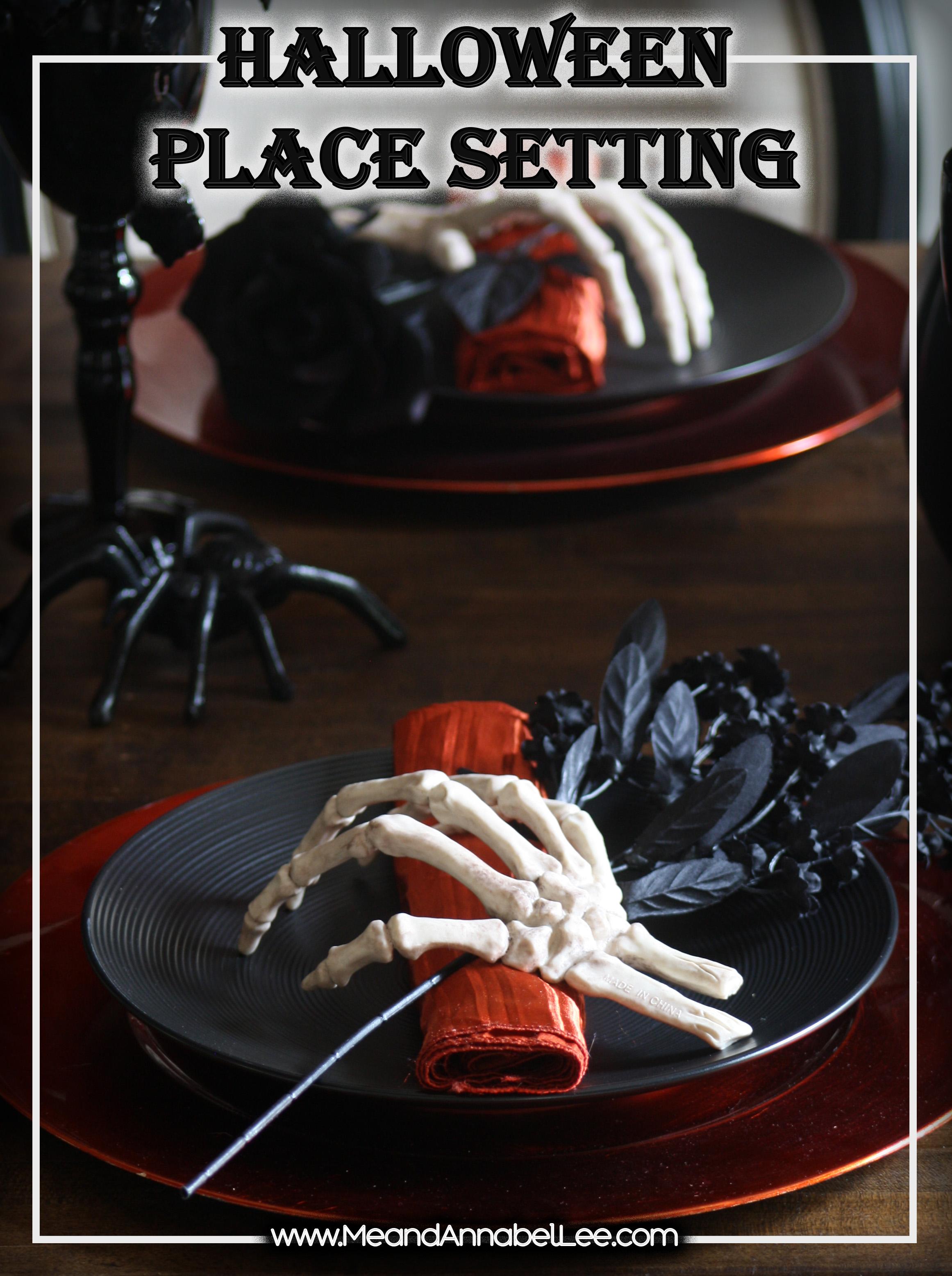 skeleton hands halloween napkin holders halloween table setting gothic dinner party www