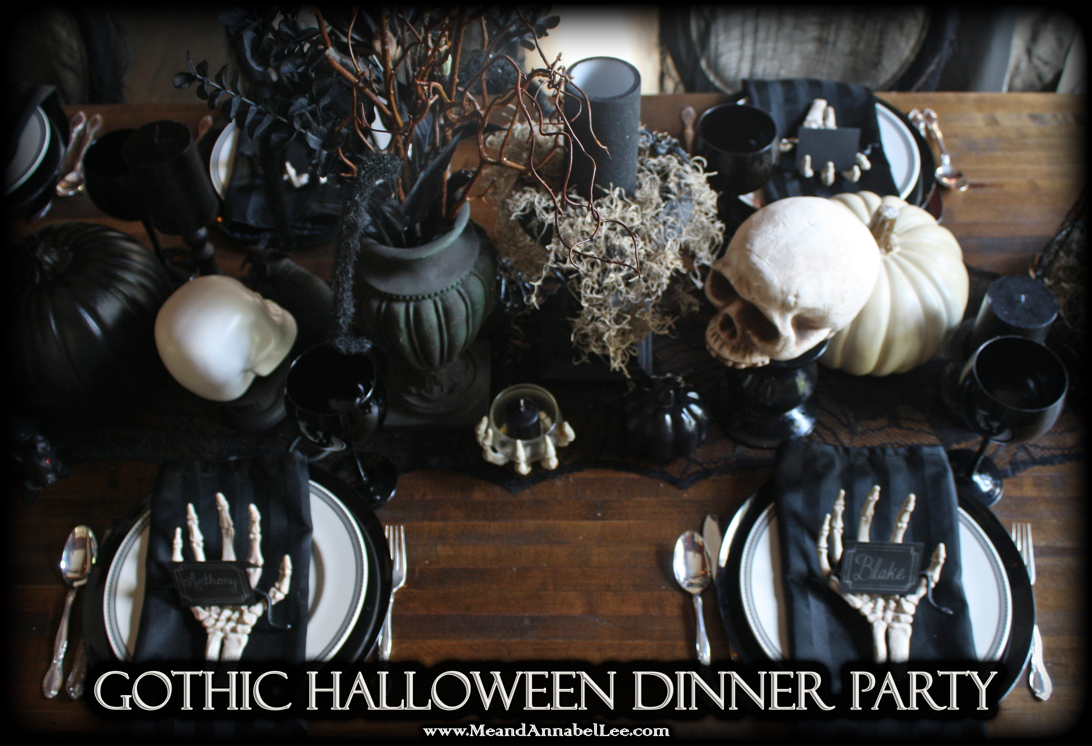 Halloween Dinner Party Menu.Halloween Dinner Party Gothic Entertaining Me And