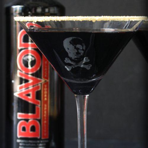 Black Cherry Martini | Blavod Black Vodka | Skull Martini | Gothic Cocktail | Halloween Drink | www.MeandAnnabelLee.com