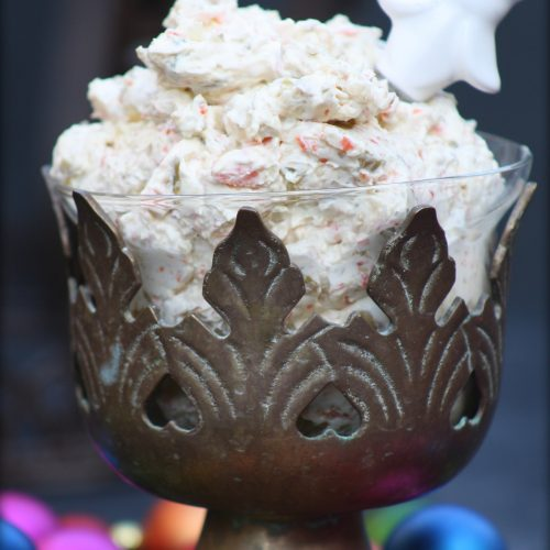 Muffuletta Cream Cheese Spread - Adding a touch of New Orleans to your Breakfast - Mardi Gras Brunch - www.meandannabellee.com