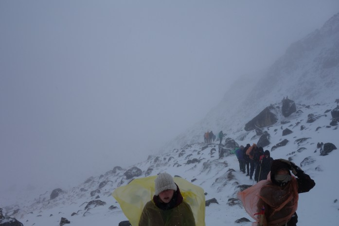 Members of our group as they reached the top of the pass.