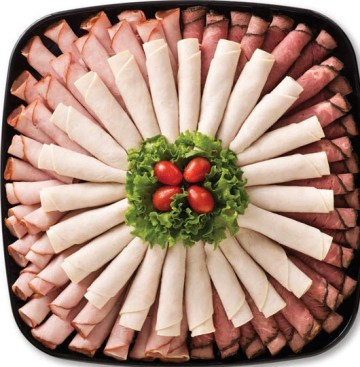 The turkey and ham platter