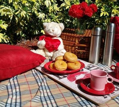 Valentine Bear, Hot Chocolate & Donuts!