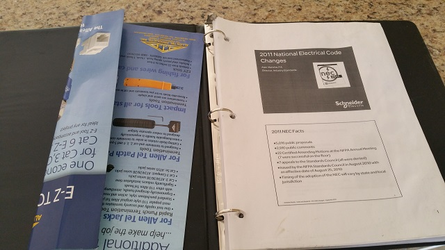 good news or bad news when electrician has 2011 code book spread out on counter top!