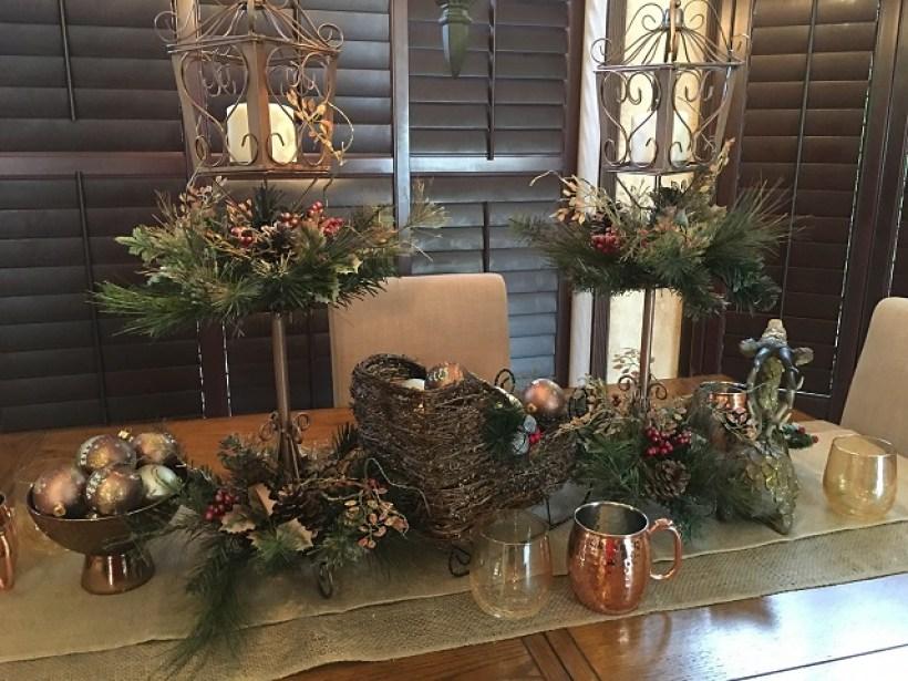 Gingerbread Village centerpiece table