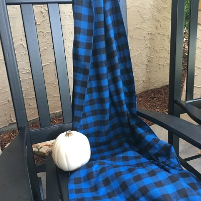 Easy To Make Cozy Flannel Throw….