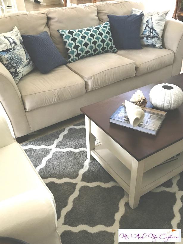 coastal living room coffee table